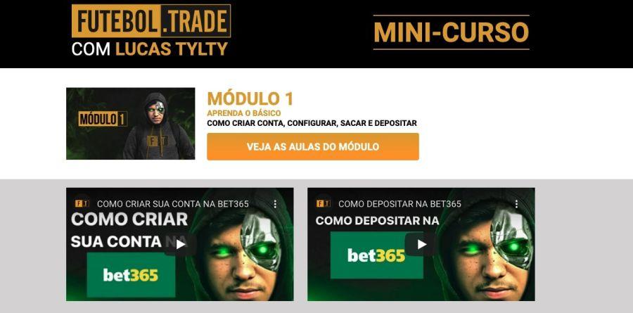 Futebol Trade com Lucas Tylty: passo a passo da bet365